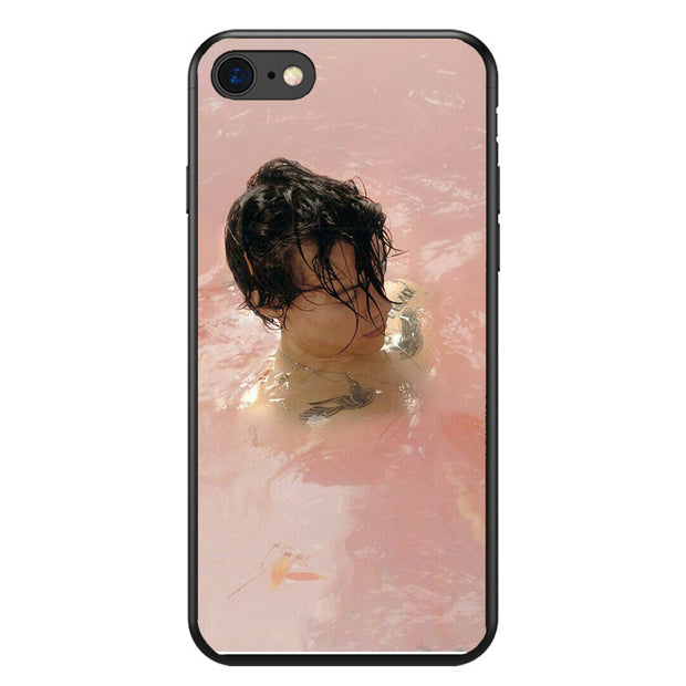 Tatuagens Do One Direction Harry Styles Phone Cases Para Coque Iphone 4 5 6 7 8 Plus X XR XS Xmax Soft Capa De Black Silicone