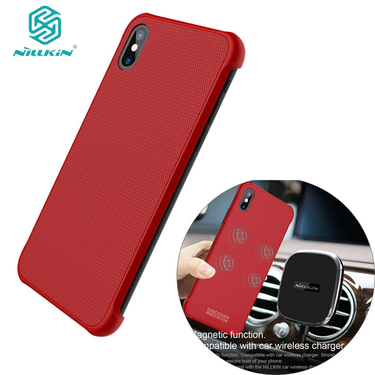 new styles 7a565 215be Tempered Magnet Case For Apple IPhone X Case,NILLKIN Magnetic Wireless  Charging Receiver Case For IPhone X 5.8 Inch High Quality