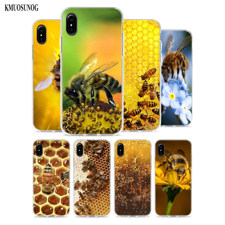 iphone xr silicone phone case bee
