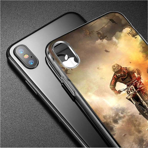 Transparent Soft Silicone Phone Case Motocross Dirt Bikes For IPhone XS Max XR X 8 7 6 6s Plus 5 5S SE