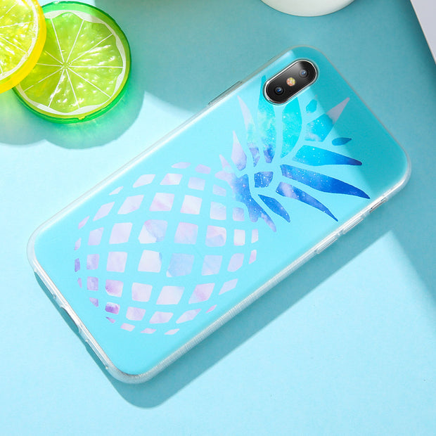 UBERAY Soft TPU Case For Samsung Galaxy A5 A7 A3 J3 J5 J7 2016 2017 Marble Fruit Pineapple Case For Samsung S8 S9 S7 Note 8 9