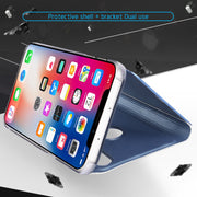 Ultra Slim Mirror Clear View Cover For IPhone XS Max XR X 8 7 6 6S Plus Smart Touch Flip Case For IPhone XR Phone Holder Cover