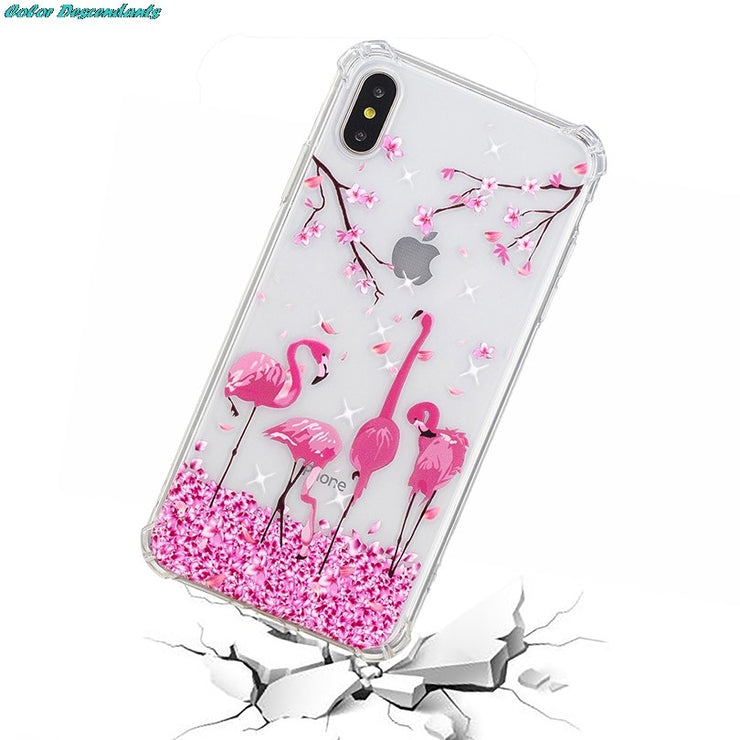 Ultra Thin Transparent Case For IPhone XS 9 Plus Painted Silicone Soft TPU Airbag Shockproof Back Cover For IPhone XS Plus Case