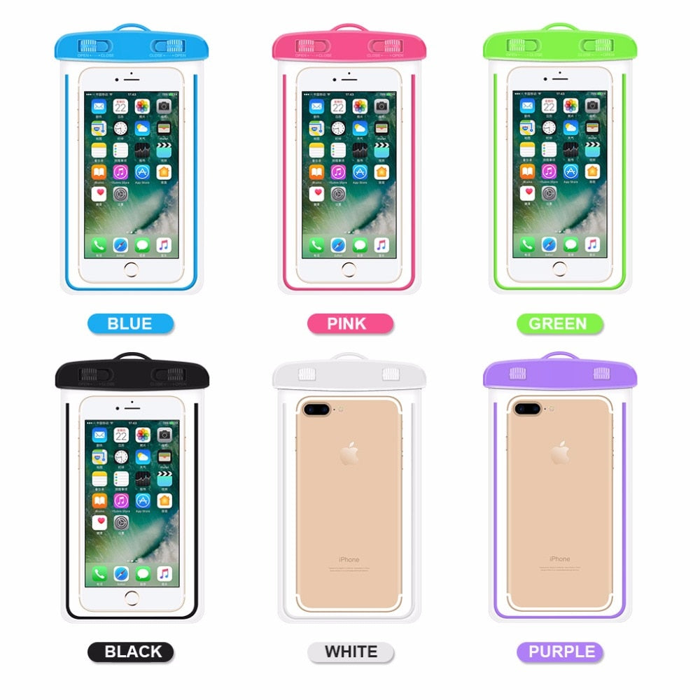 Universal Waterproof Cover Case Bag For Wiko Fever 4G Lenny 2 Pulp Rainbow 4G Sunny Solf TPU Diy Case Mobile Phone Cover Bag