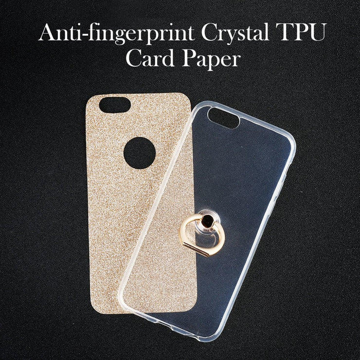 Uppbo Finger Ring Case For Huawei Y7 Prime Cases Silicone For Huawei Enjoy 7 Plus Cases Glitter Covers For Holly 4 Plus Housings