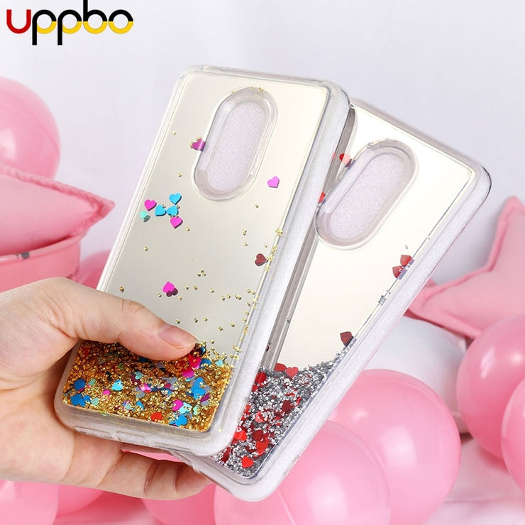 online retailer bd18c 8c843 Uppbo Glitter Cases For Alcatel 3 Case Silicone For Alcatel 3 5052Y 5052D  Case Mirror Quicksand Coque Fundas Back Cover Housings