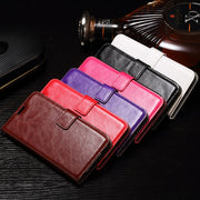 VCK For Alcatel Shine Lite One Touch Pixi 4 5010 5010D 3G C5 C7 A3 A5 U5 Vintage Leather Wallet Phone Case Silicon TPU Cover