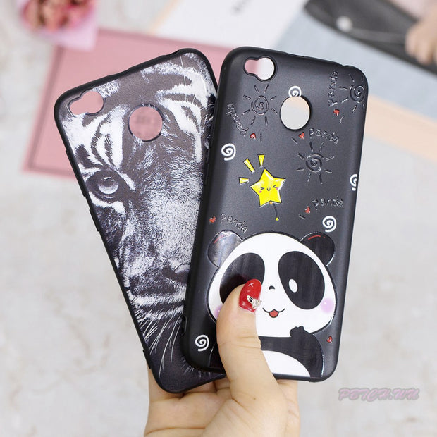 Varnish Relief Case For Xiaomi Redmi 4X X4 Soft TPU Mobile Phone Cover For Xiao Mi Red Hongmi 4 X MAG138 MAT136 MAE136 Bag Capa