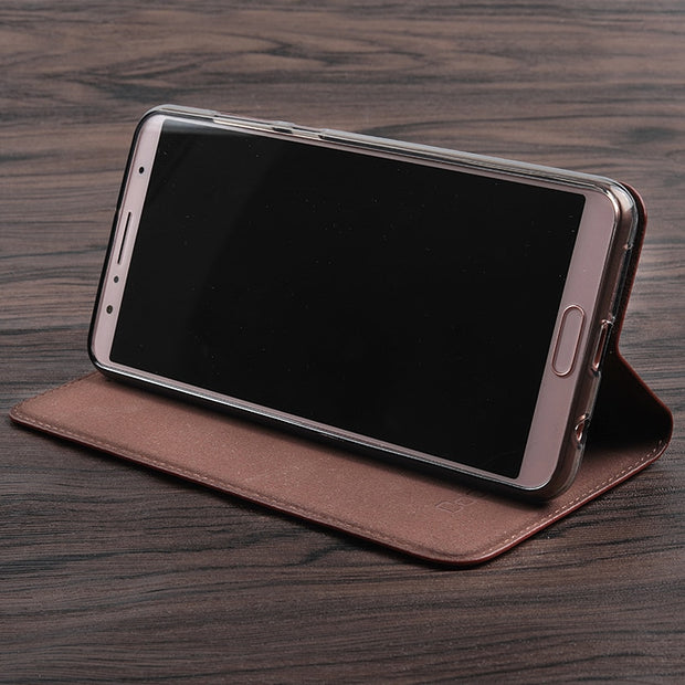Vintage Litch Genuine Leather Case For For Motorola Moto G5 G5S / G5 G5S Plus Mobile Phone Retro Flip Cover Leather Cases