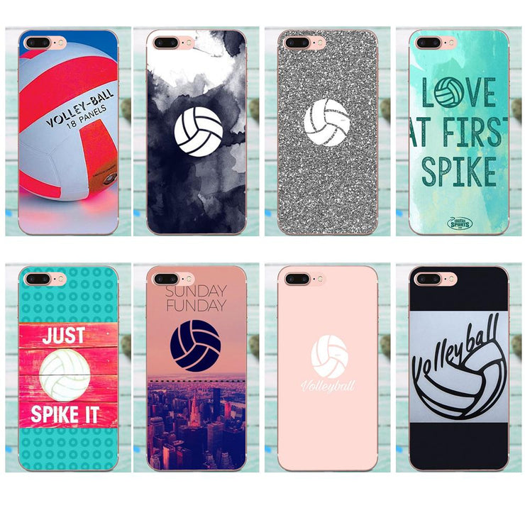 detailed look fa47f f5ce1 Volleyball For Apple IPhone X XS Max XR 4 4S 5 5C 5S SE 6 6S 7 8 Plus Soft  Print Case