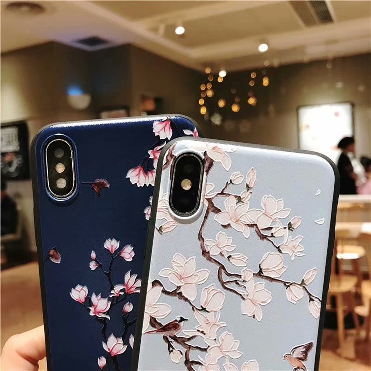 With Video Cherry Blossoms Luxury Case For IPhone XS MAX 8 8Plus 7 7Plus 6 6Plus 6sPlus 5 5s SE 6s Plus Cover Cases