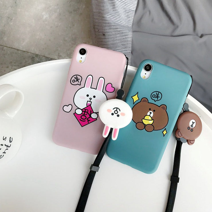 With Video Small Bear Luxury Case For IPhone Xs Max 8 8Plus 7 7Plus 6 6Plus 6sPlus 5 5s SE 6s Plus Cover Cases