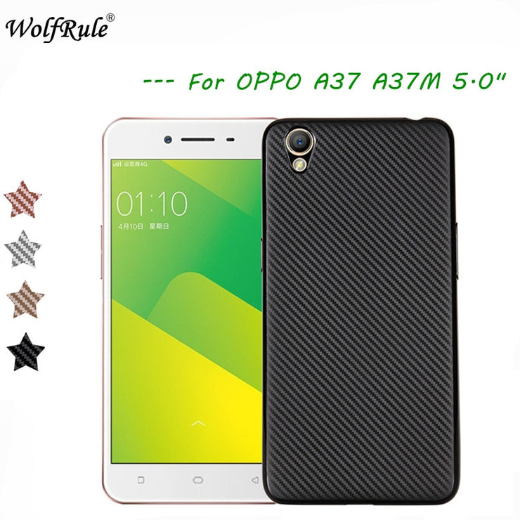 premium selection 3e91e fc783 WolfRule OPPO A37 Case Oppo Neo 9 Cover Luxury Full Protection Carbon Fiber  Brushed Soft TPU Case For Oppo A37 Phone Shell 5.0