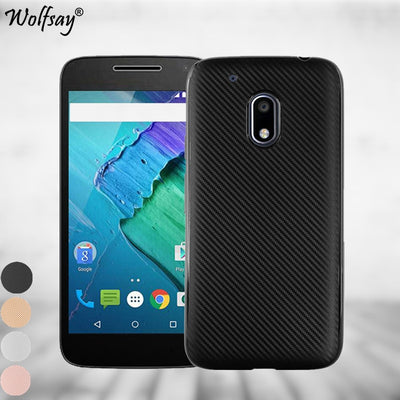 Wolfsay For Capa Motorola Moto G4 Play Case Carbon Fiber Design Texture Silicone Phone Bag Case SFor Motorola Moto G4 Play Cover