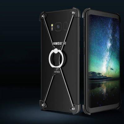 X Shape Ring Bracket Case For Samsung S9/S9 Plus Luxury Personality Shell For Samsung S9 Metal Border & Ring Holder 360 Degree