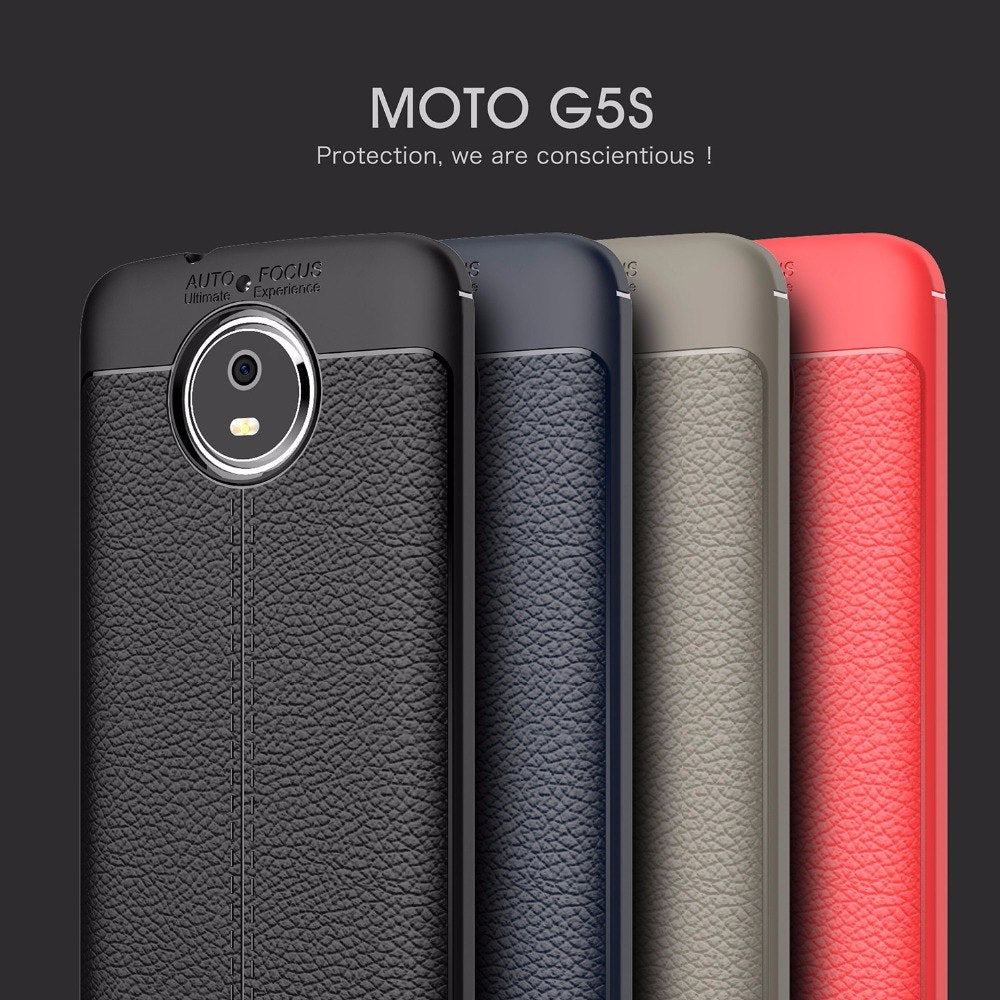 XUANKAIDA Luxury Litchi Leather Skin TPU Gel Soft Rubber Phone Back Case Cover For Motorola G5S E4 Plus G5 C Plus Z2 Play