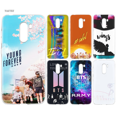 YAETEE BTS Wake Up Love Yourself WINGS Bangtan Silicone Case For Xiaomi Pocophone F1 Mi A2 Lite A1 Redmi Note 4X 5 5A 6 Pro S2 P