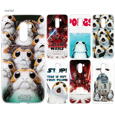 YAETEE Star Wars The Last Jedi Porgs Silicone Case For Xiaomi Pocophone F1 Mi A2 Lite A1 Redmi Note 4X 5 5A 6 Pro S2 Plus