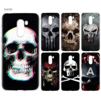 YAETEE Super Cute Skull Silicone Case For Xiaomi Pocophone F1 Mi A2 Lite A1 Redmi Note 4X 5 5A 6 Pro S2 Plus