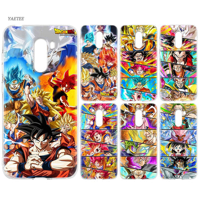 YAETEE Super Dragon Ball Goku Silicone Case For Xiaomi Pocophone F1 Mi A2 Lite A1 Redmi Note 4X 5 5A 6 Pro S2 Plus
