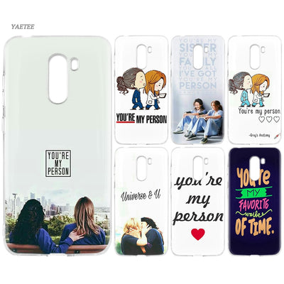 YAETEE You're My Person Silicone Case For Xiaomi Pocophone F1 Mi A2 Lite A1 Redmi Note 4X 5 5A 6 Pro S2 Plus