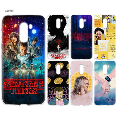 YAETEE Stranger Things Silicone Case For Xiaomi Pocophone F1 Mi A2 Lite A1 Redmi Note 4X 5 5A 6 Pro S2 Plus