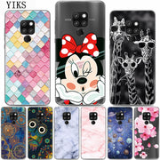 YIKS Cute Cartoon Patterned Phone Case For Huawei Mate 20 Lite Cases Mate 20 Black Matte Cover For Huawei Mate 20 Pro Capas