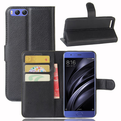 "YINGHUI For Xiaomi Mi6 Case 5.15"" Phone Case With Stand Wallet Style Luxury PU Leather Flip Cover Bags Skin For Xiaomi Mi6"