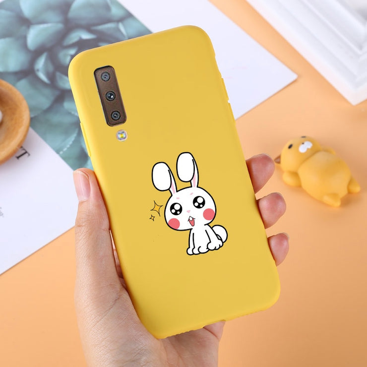 Yellow Candy Color Case For Samsung A7 2018 Silicon TPU Soft