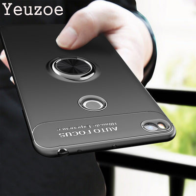 Yeuzoe Fashion Phone Cover For Xiaomi Mi Max 2 Case Silicone TPU Finger Ring Stealth Bracket Case For Mi Max2 Cover Coque Capa
