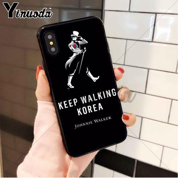 Yinuoda Johnnie Walker Whisky Black Silicone Soft TPU Phone Case Cover For IPhone 8 7 6 6S Plus X XS MAX 5 5S SE XR Cellphones