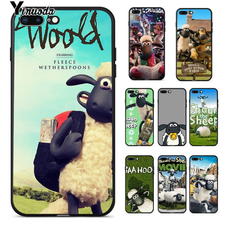 premium selection e0a86 565f4 Yinuoda Cute Shaun The Sheep Black High Quality Phone Case For Apple IPhone  8 7 6 6S Plus X XS MAX 5 5S SE XR Cellphones