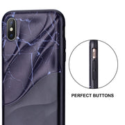 Yokata Case For IPhone 6 6s 7 8 X Case Cover Marble Bumper Black Fashion Stone Protective Shockproof Unique For Men Girls