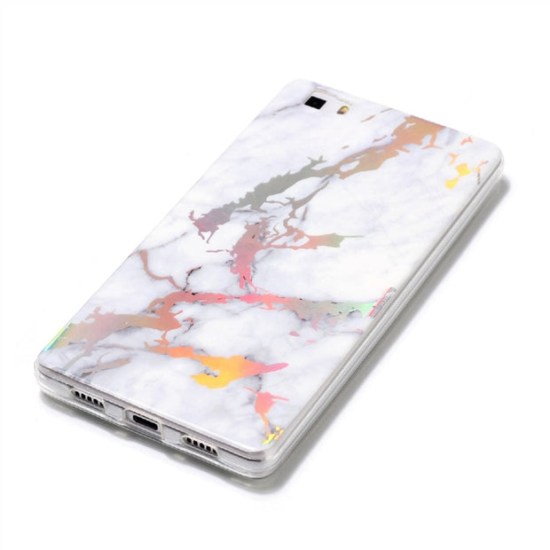Yokata Soft Marble Case For Huawei P8 Lite 2017 Cover Silicone For Color Plated Pink Black Gold Coque For Huawei P9 Lite