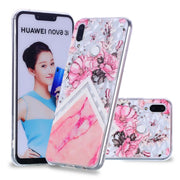 ZZCAJA Bag Capas For Huawei Nova 3i Case Luxury Unique Style Cute Pink Flowers TPU Soft Phone Cover For Huawei P Smart + Fundas