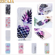 ZZCAJA Bag Capas For Samsung A7 2018 Case Luxury Unique Style Cute Pink Flowers TPU Soft Phone Cover For A7 2018 Shell Fundas