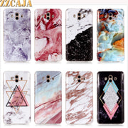 ZZCAJA For Huawei Mate 9 10 Lite Pro Case Silicon Smooth Cute Marble Granite Moor Stone Jade Soft TPU Cover For Mate RS Fundas