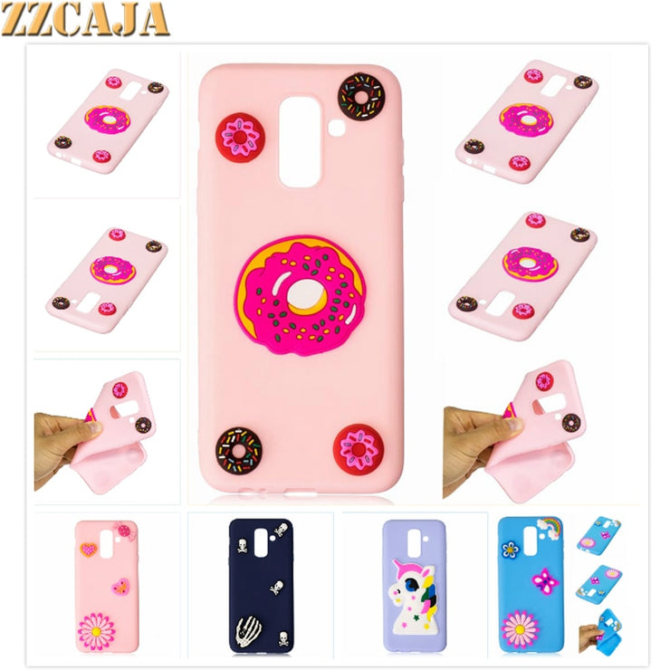 ZZCAJA For Samsung S8 S9 Plus Cases Soft Silicone Cute Unicorn OWL Flower Cover For Galaxy S7 Edge A3 A5 A7 2017 A6 Plus A8 2018