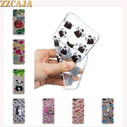ZZCAJA Shell For Huawei Y7 Y9 2018 Case Silicone Cute Animal Bear Panda Pink Tree Flowers Soft TPU Covers For Honor 10 Fundas