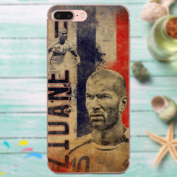 Zidane Football For Xiaomi Note 3 4 Mi3 Mi4 Mi4C Mi4i Mi5 Mi 5S 5X 6 6X 8 SE A1 Max Mix 2 Soft Cell Phone Cover Case