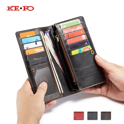 Zipper Flip Leather Wallet Case Cover For Xiaomi Mi A2 Lite A1 6X 5X Redmi 6 Pro Book Style Universal Wallet Phone Bag