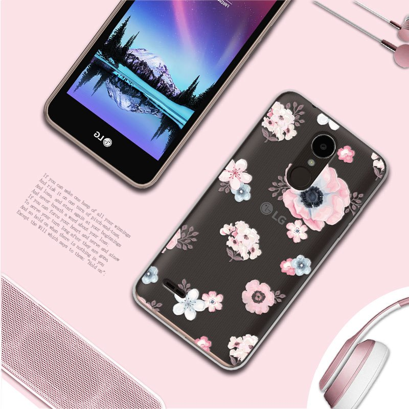 Adlucky Back Covers Case For LG K7 2017 X230 3D Relief Lace Soft TPU Phone  Case Cover For LG X230 K 7 LGX230 5 0 Coque Fundas