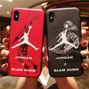 Basketball Star Air Jordan Flyman 23 Case For Iphone X 8 Plus 7 7plus 6 6s Plus Soft Shell Trapeze Back Case For IPhone 9 Cover