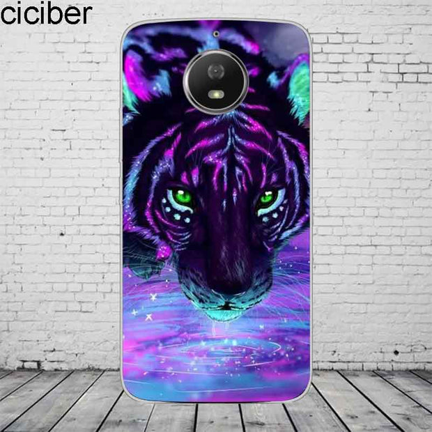 Ciciber Animal Lion Tiger For Motorola Moto C Z2 Z3 ONE P30 G4 G5 G5S G6 E3 E4 E5 Play Plus Power M X4 Phone Case Silicone TPU