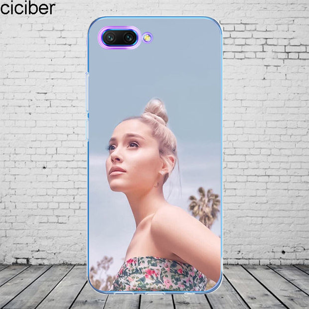 Ciciber Ariana Grande For Honor 10 9 8 Pro Lite X C Play 7A Phone Case For Y 9 7 6 5 Prime Pro 2017 2018 2019 Coque Silicone TPU
