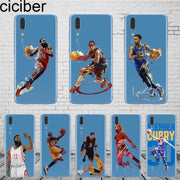 Ciciber Basketball Curry Iverson Kobe For Mate20 10 9 Lite Pro X 2017 Fundas For Huawei P 20 10 9 8 Pro Lite Plus Phone Case TPU