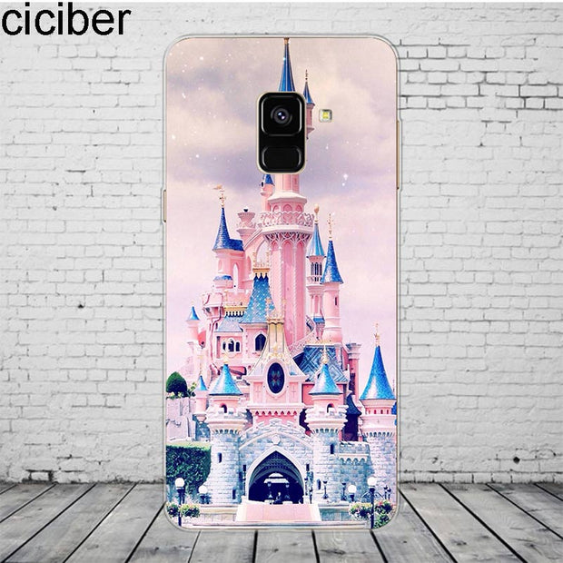 Ciciber Cinderella Castle For Samsung Galaxy A 7 5 6 8 9 S 2016 2017 2018 Phone Case Star C 9 7 5 10 PRO Plus Cover Silicone TPU