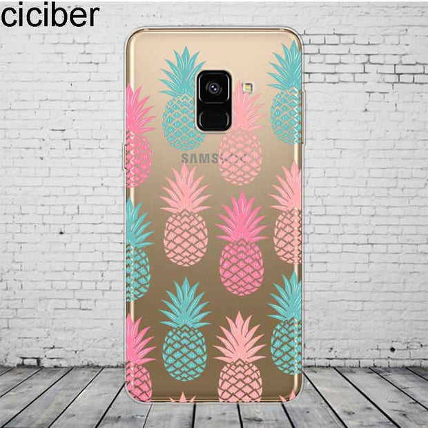 Ciciber Cute Patterned Pineapple For Samsung Galaxy A 7 5 6 8 9 2016 2017 2018 Case Star C 9 7 5 10 Pro Plus Cover Silicone TPU