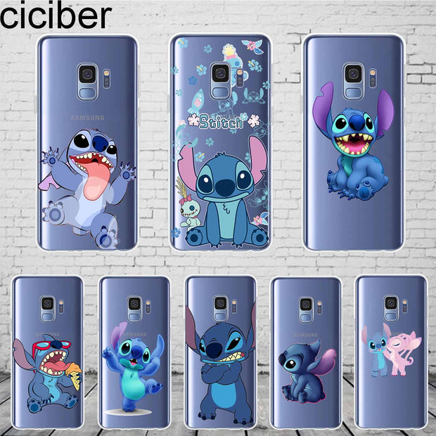 Ciciber Cute Stich Stitch For Samsung Galaxy S 6 7 8 9 Edge Plus Phone Case Silicone TPU For Galaxy Note 4 5 8 9 Cover Fundas