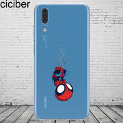 Ciciber DC Marvel For Mate 20 10 9 Lite Pro X 2017 Fundas For Huawei P 20 10 9 8 Pro Lite Plus Phone Case Silicone TPU Cover